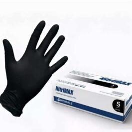 Перчатки нитриловые NITRIMAX 50 шт / 25 пар – S, Черный