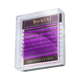 Ресницы Domini Lash Цветные фиолетовые МИКС (8 линий)