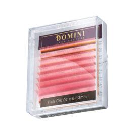 Ресницы Domini Lash Цветные светло-розовые МИКС (8 линий)