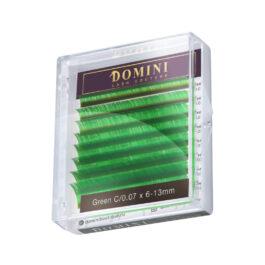 Ресницы Domini Lash Цветные зеленые МИКС (8 линий)
